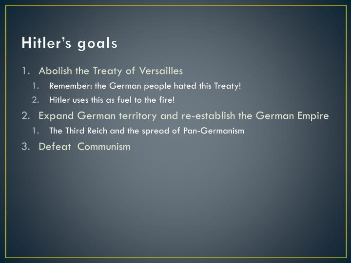 Hitler's goals