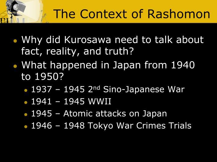 The Context of Rashomon