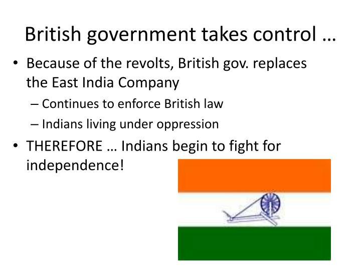 British government takes control …