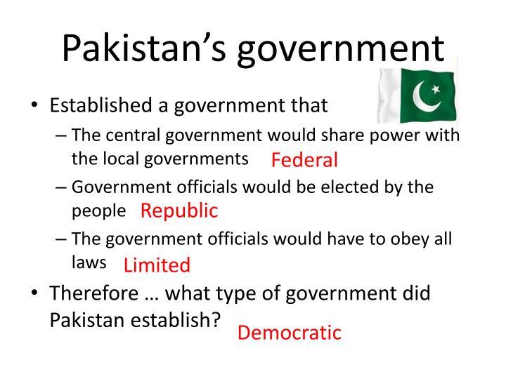 Pakistan's government