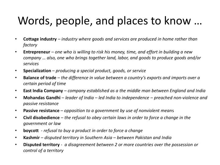 Words, people, and places to know …