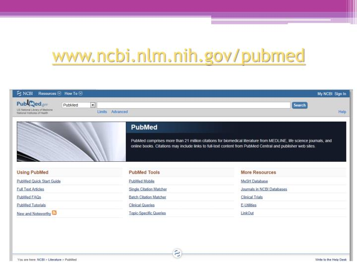 www.ncbi.nlm.nih.gov/pubmed