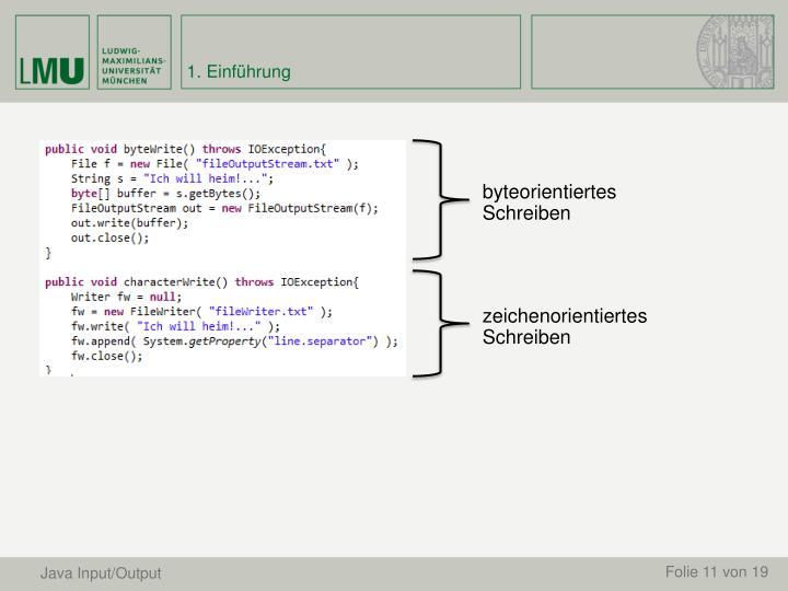 Java Input/Output