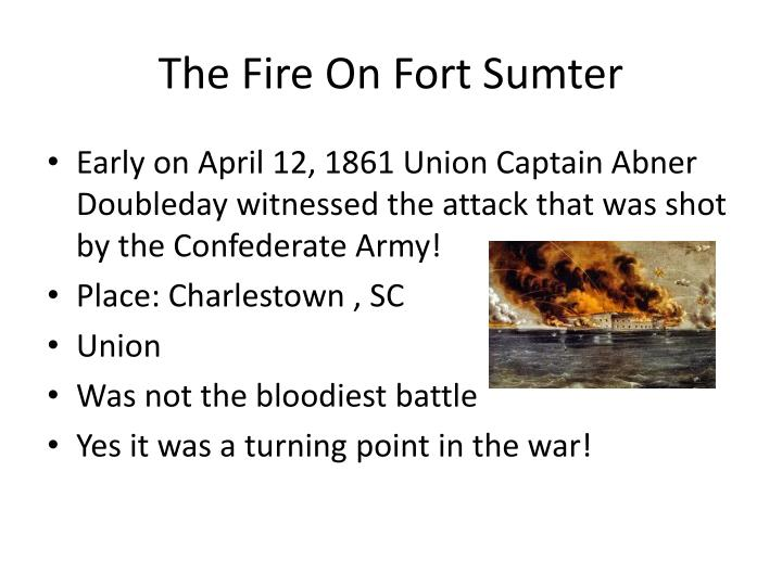 The Fire On Fort Sumter