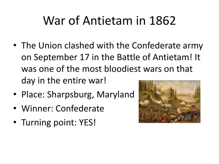 War of antietam in 1862