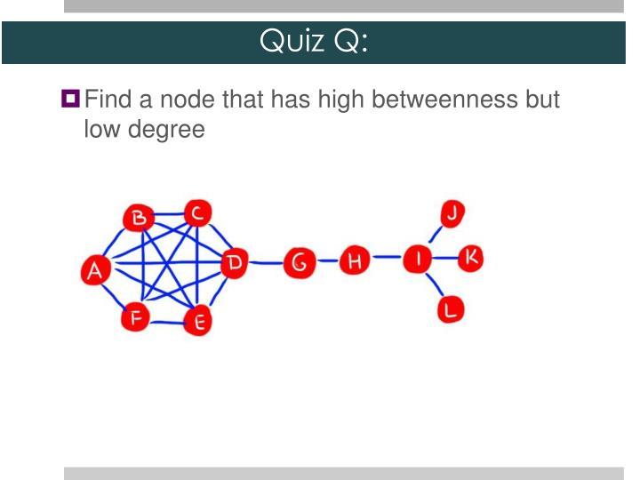 Quiz Q: