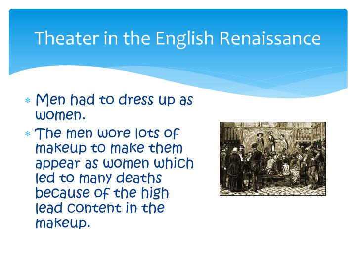 Theater in the English Renaissance