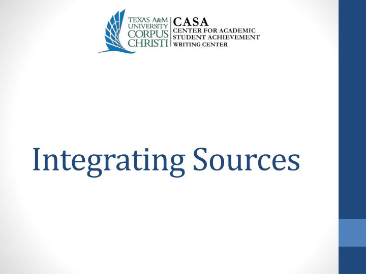 Integrating sources