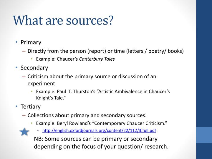 What are sources?