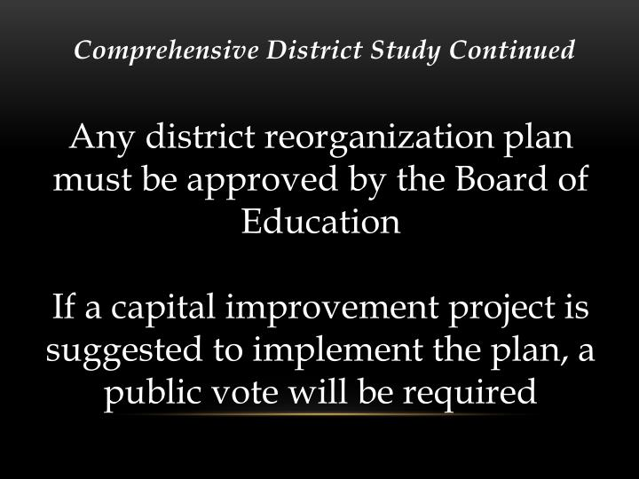 Comprehensive District Study Continued