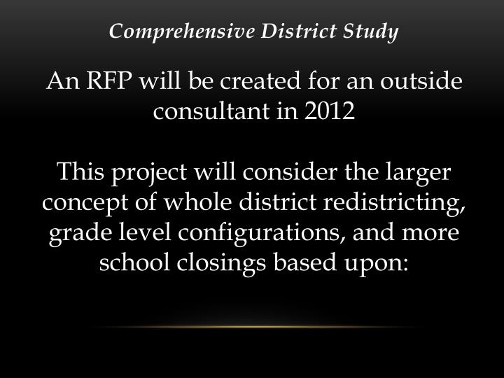 Comprehensive District Study