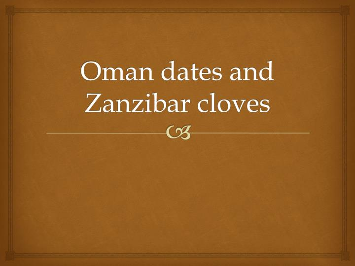 Oman dates and