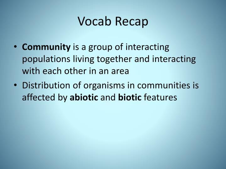 Vocab Recap