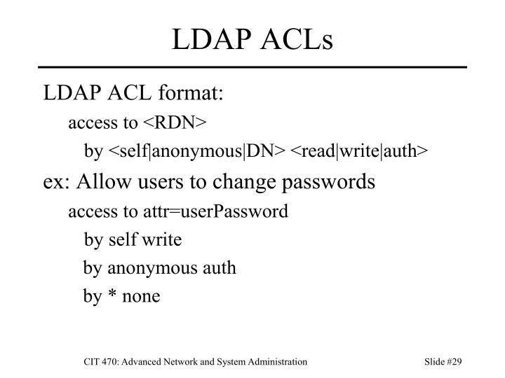 LDAP ACLs
