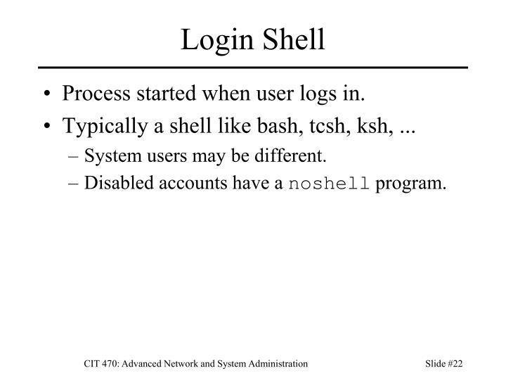 Login Shell