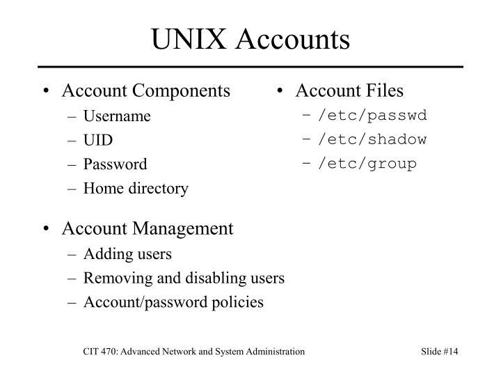 Account Components