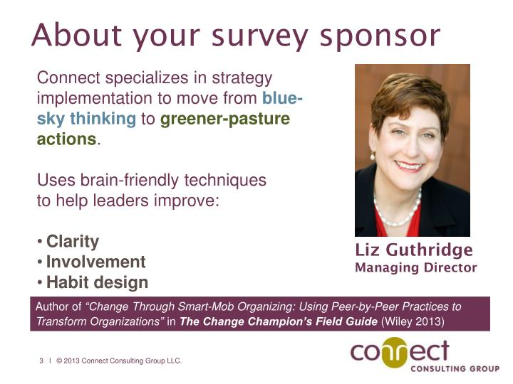 About your survey sponsor