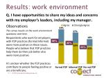 results work environment