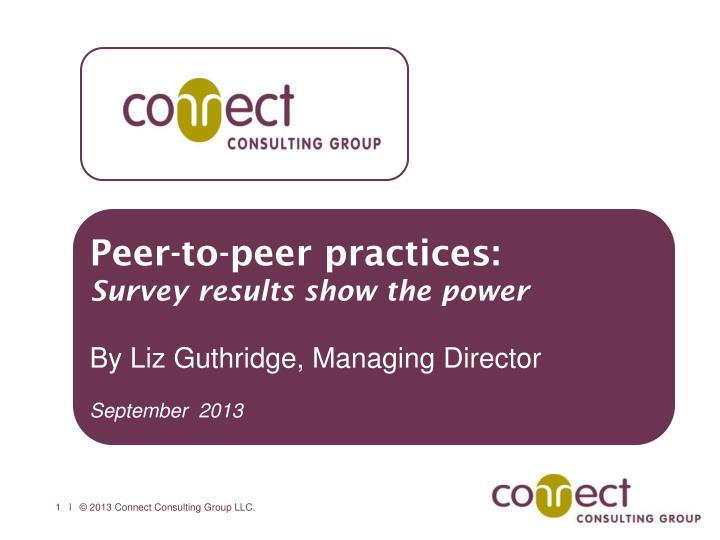 Peer-to-peer practices: