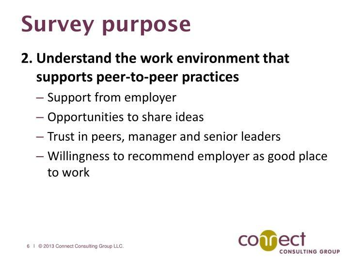 Survey purpose