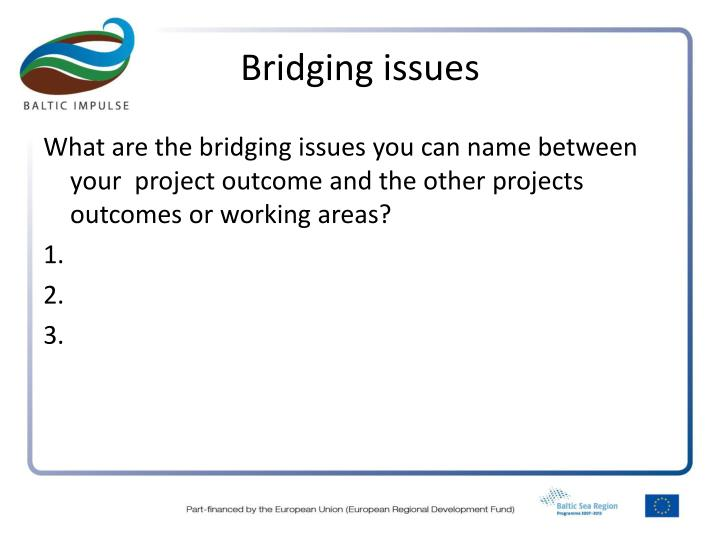 Bridging issues