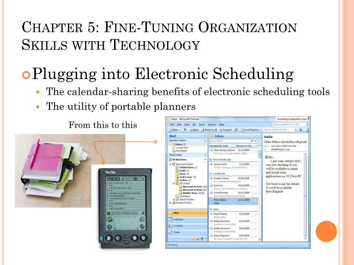 Chapter 5 fine tuning organization skills with technology