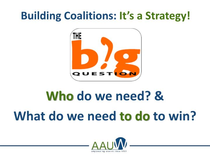Building coalitions it s a strategy