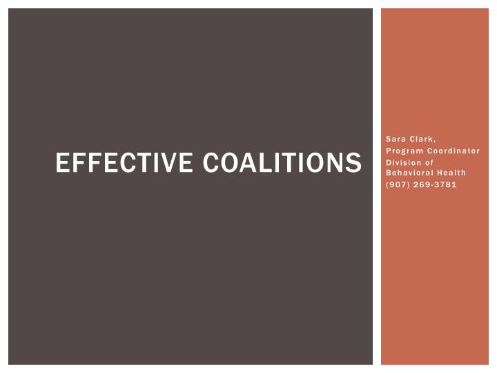 effective coalitions