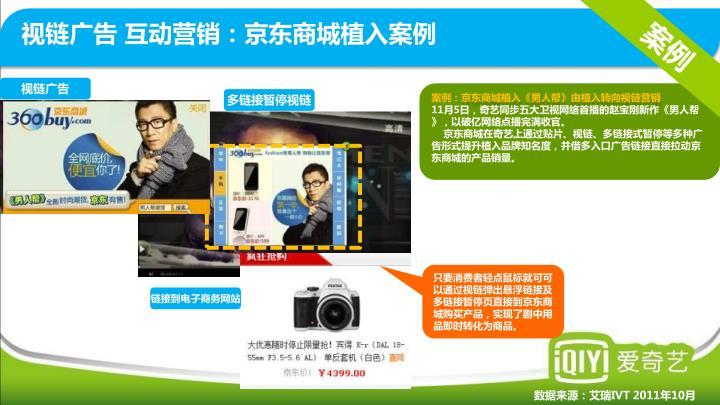 视链广告 互动营销:京东商城植入案例
