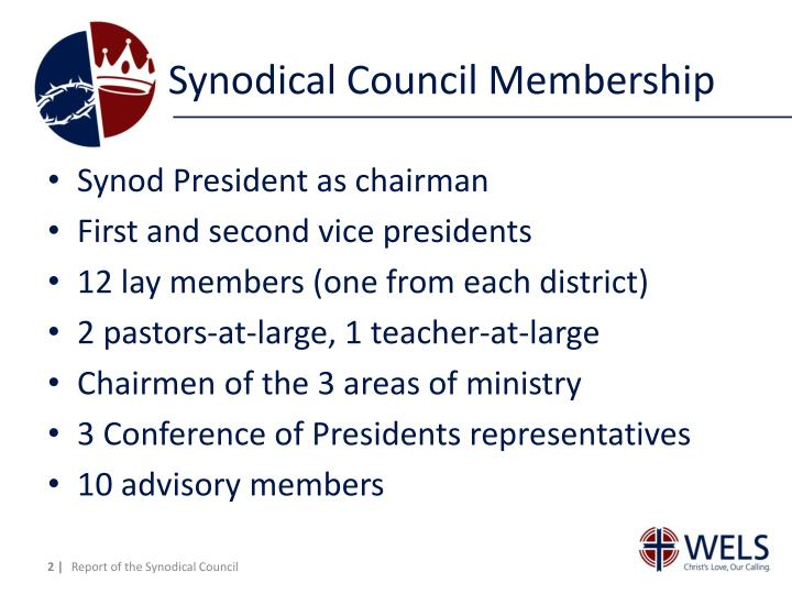 Synodical Council Membership