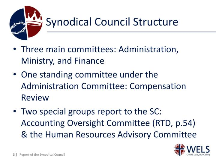 Synodical council structure