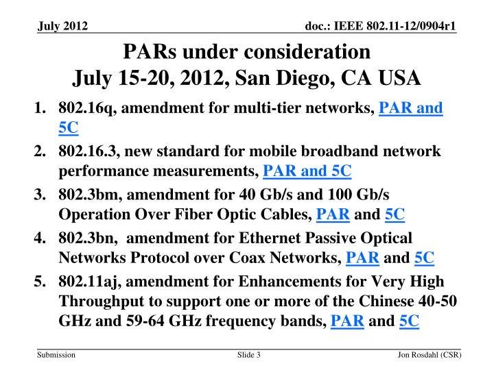 Pars under consideration july 15 20 2012 san diego ca usa