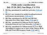 pars under consideration july 15 20 2012 san diego ca usa