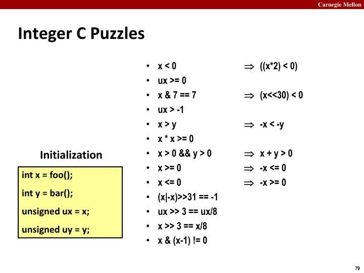 Integer C Puzzles