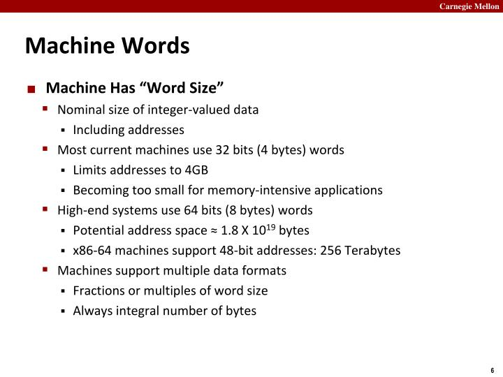 Machine Words