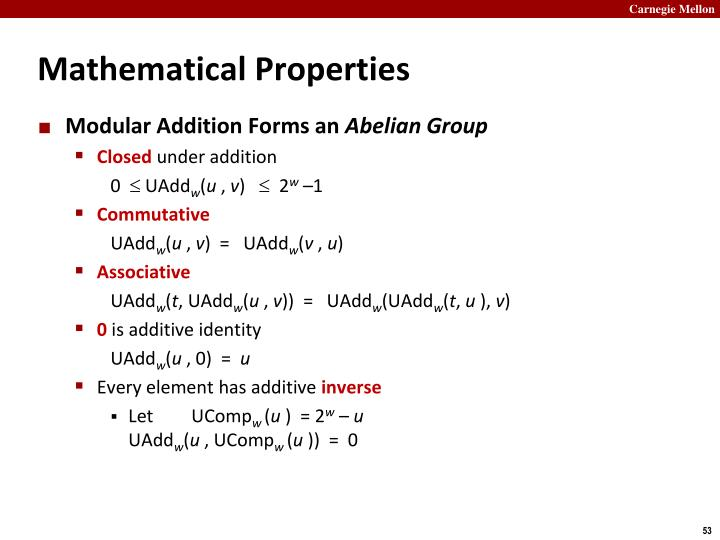 Mathematical Properties