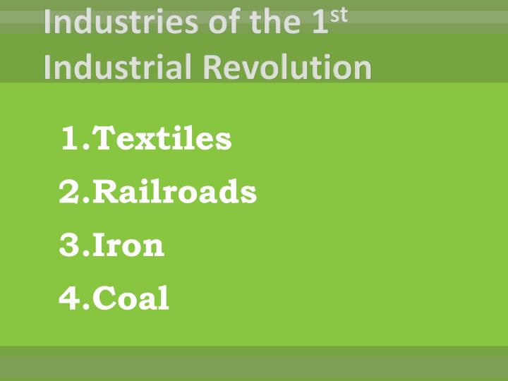 Industries of the 1