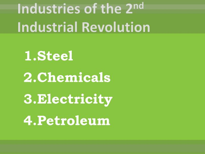 Industries of the 2