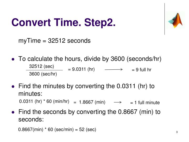 Convert time step2