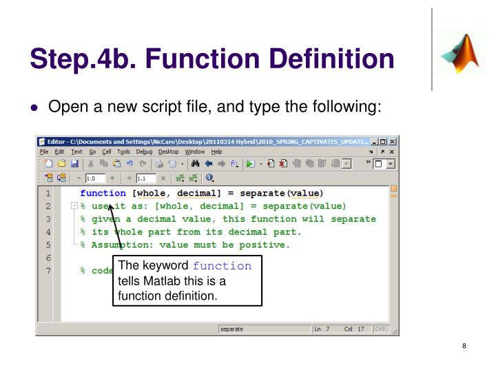 Step.4b. Function Definition