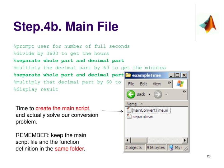 Step.4b. Main File