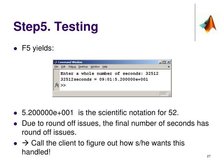 Step5. Testing