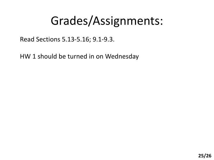 Grades/Assignments: