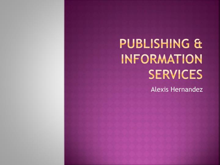 publishing information services