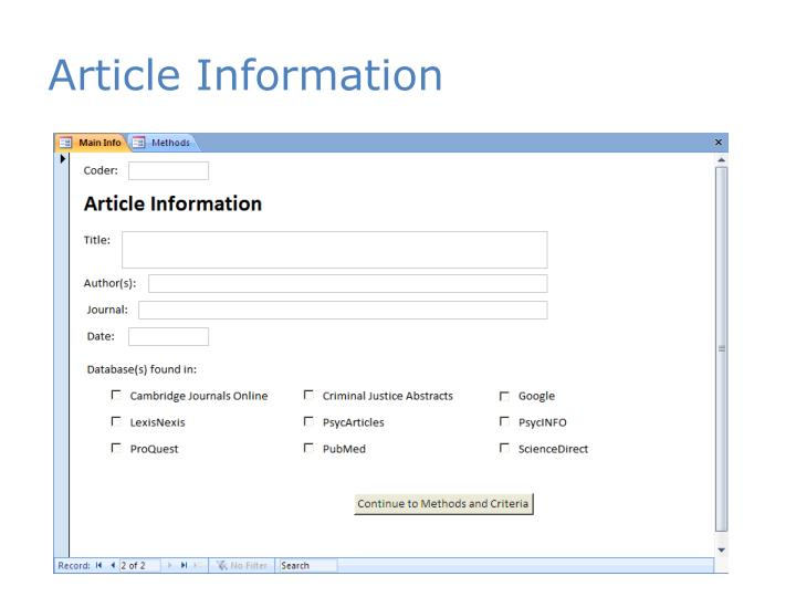 Article Information