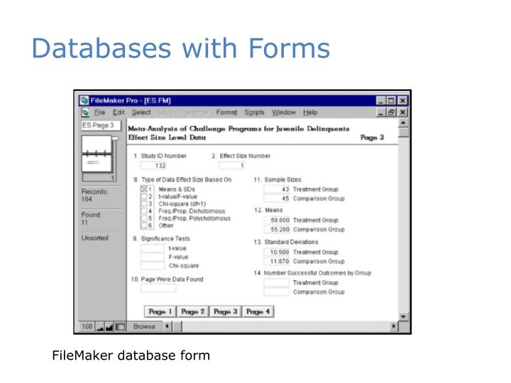 Databases with Forms