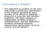 formulating a problem3