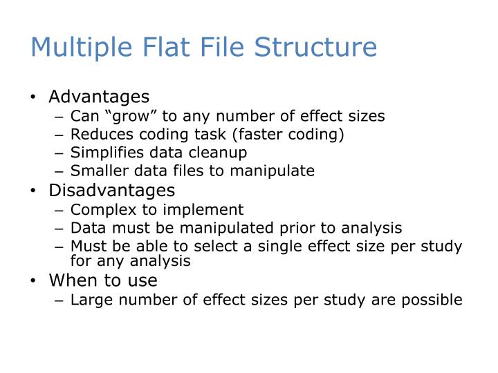Multiple Flat File Structure