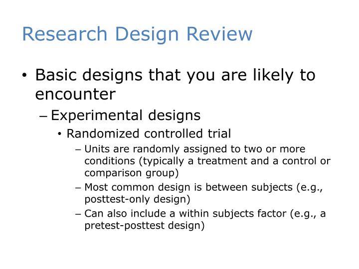 Research Design Review
