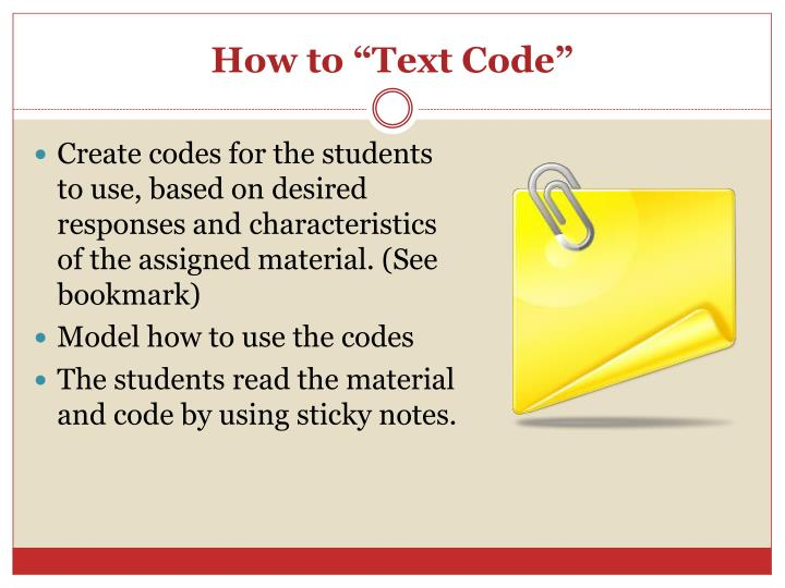 "How to ""Text Code"""
